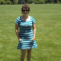 Striped Self-Drafted T-Shirt Dress https://anelementallife.wordpress.com/2011/06/04/me-made-june-day-3/