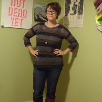 Sweater-knit Holiday Hemlock https://anelementallife.wordpress.com/2013/11/24/striped-hemlock-sweater/